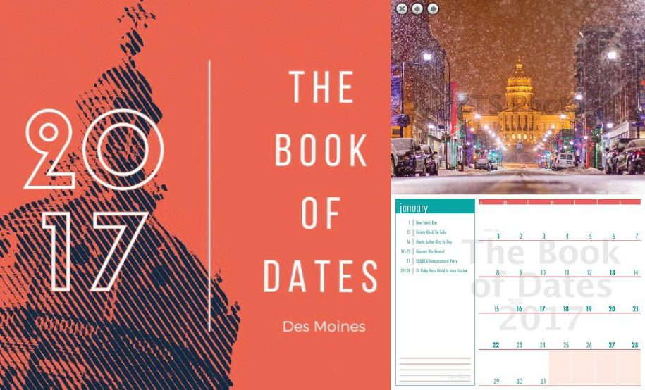 des moines book of dates calendar