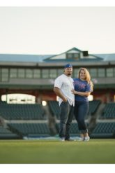 iowa cubs baseball engagement photos