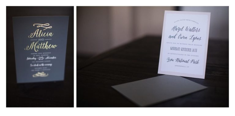 I absolutely loved the feel of the real foil on black invitation too. Something unique and different!